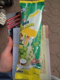Glace coco-soja vert