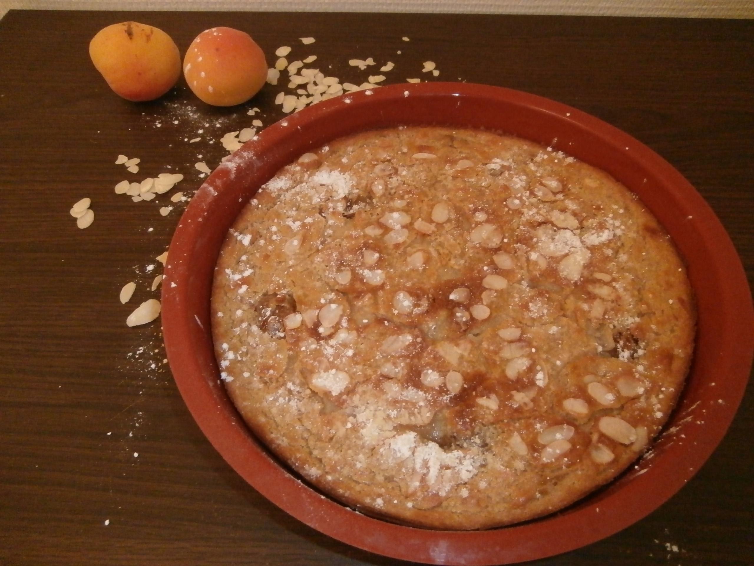 Clafoutis aux abricots au sirop