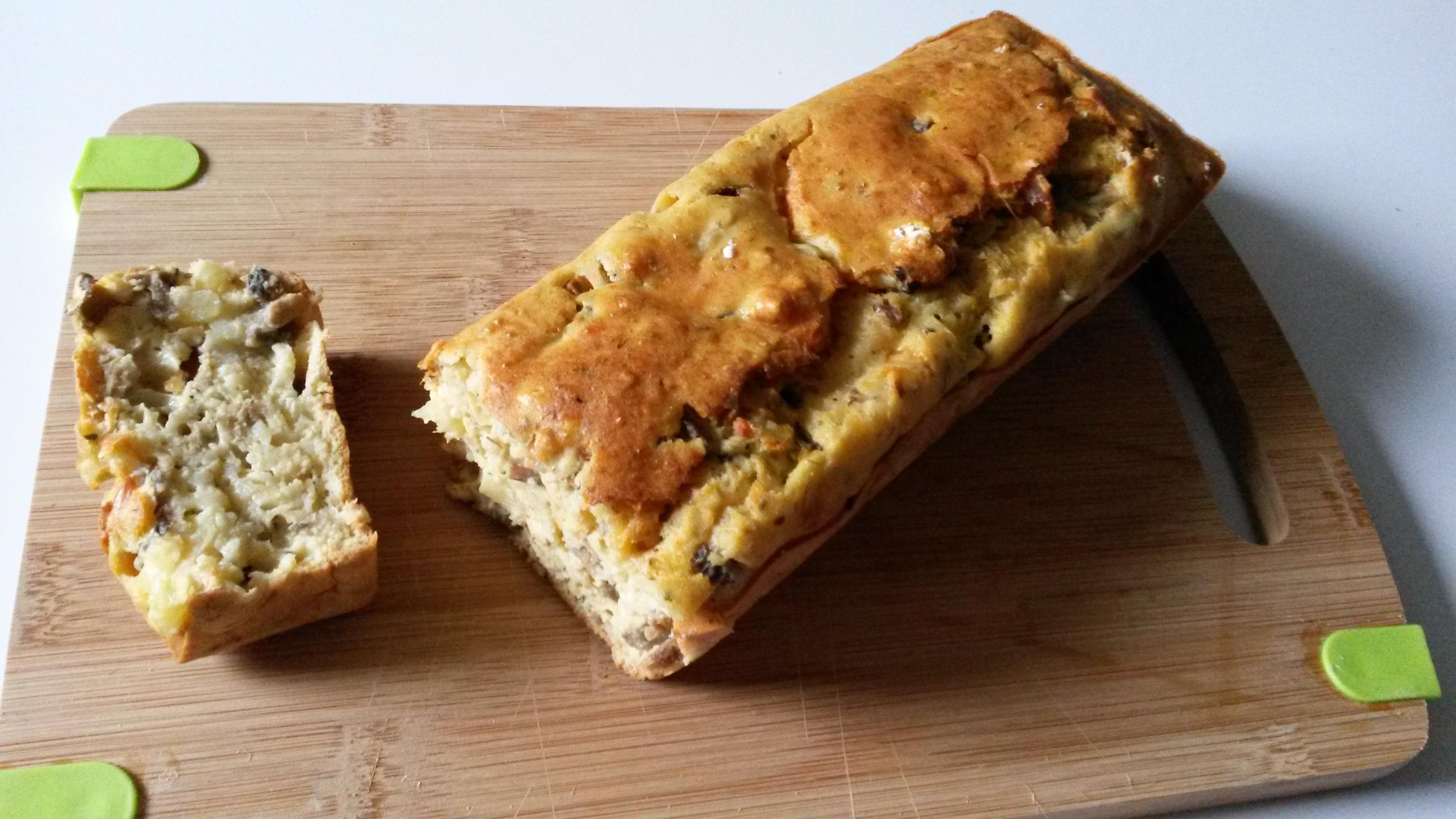 Cake thon, champignons, ananas