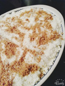 Crumble pomme, rhubarbe spéculoos