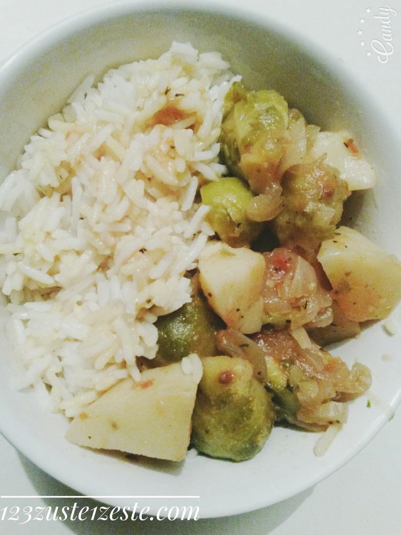 Curry végétarien aux choux de Bruxelles