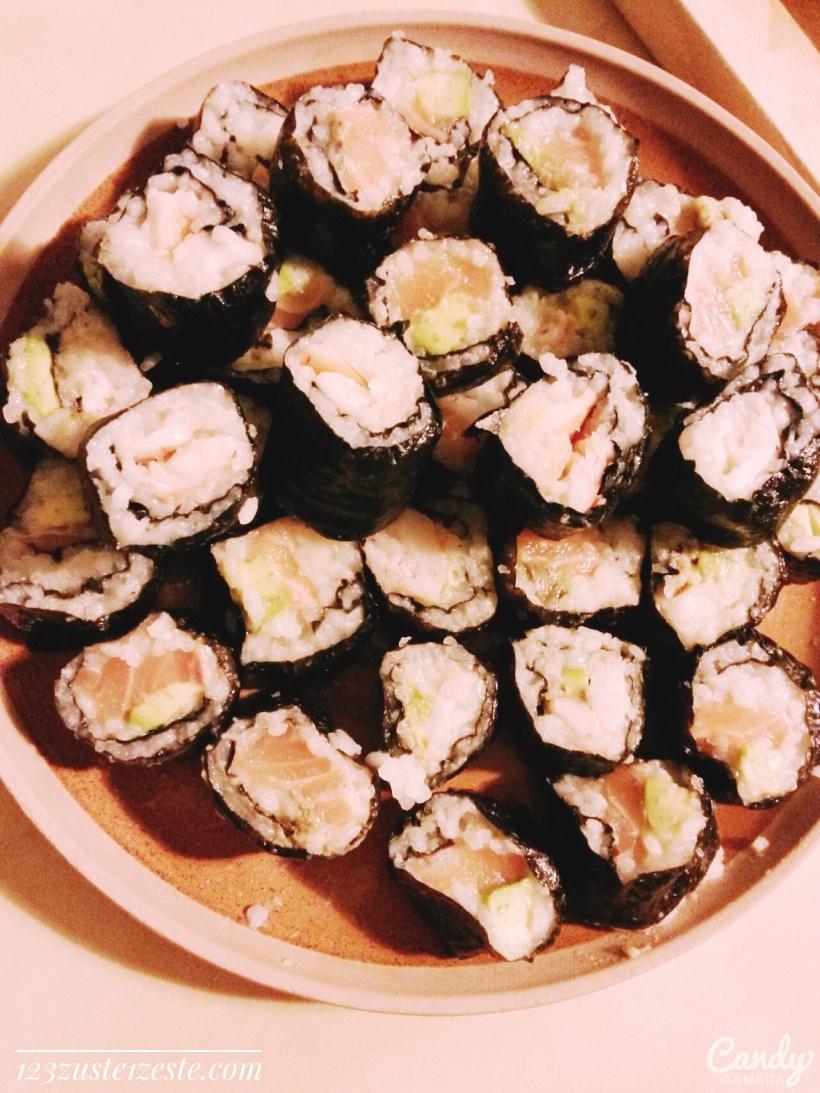Makis saumon ou crevette et avocat