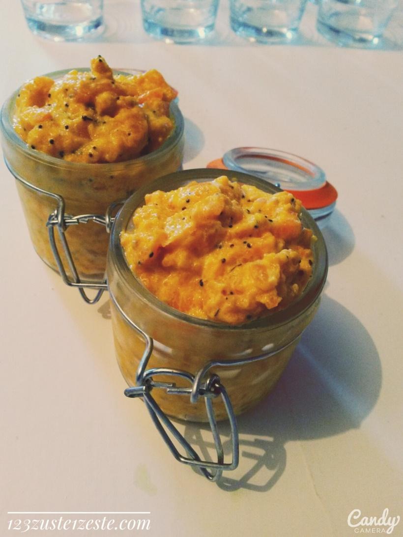 Tartinade de carotte au fromage frais et pavot