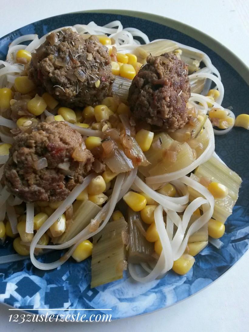 Boulettes de boeuf au curry et gingembre