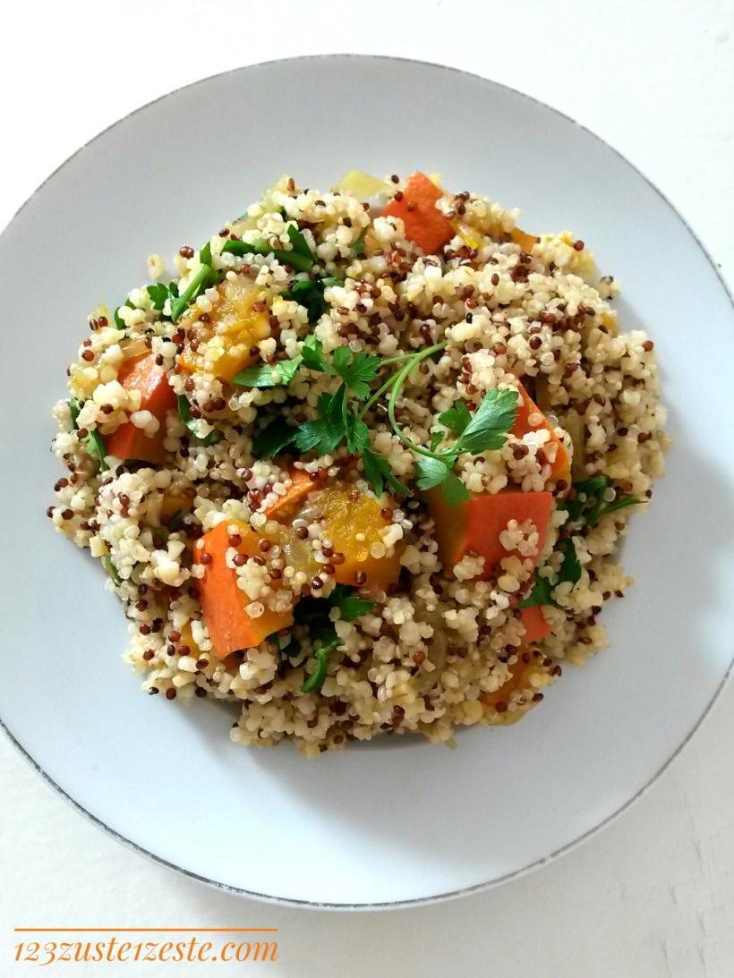Quinoa au potiron et lait de coco