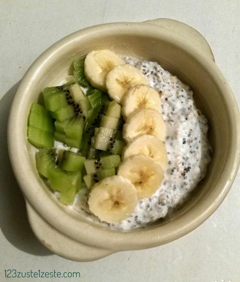 Bowl healthy de graines de chia au kiwi