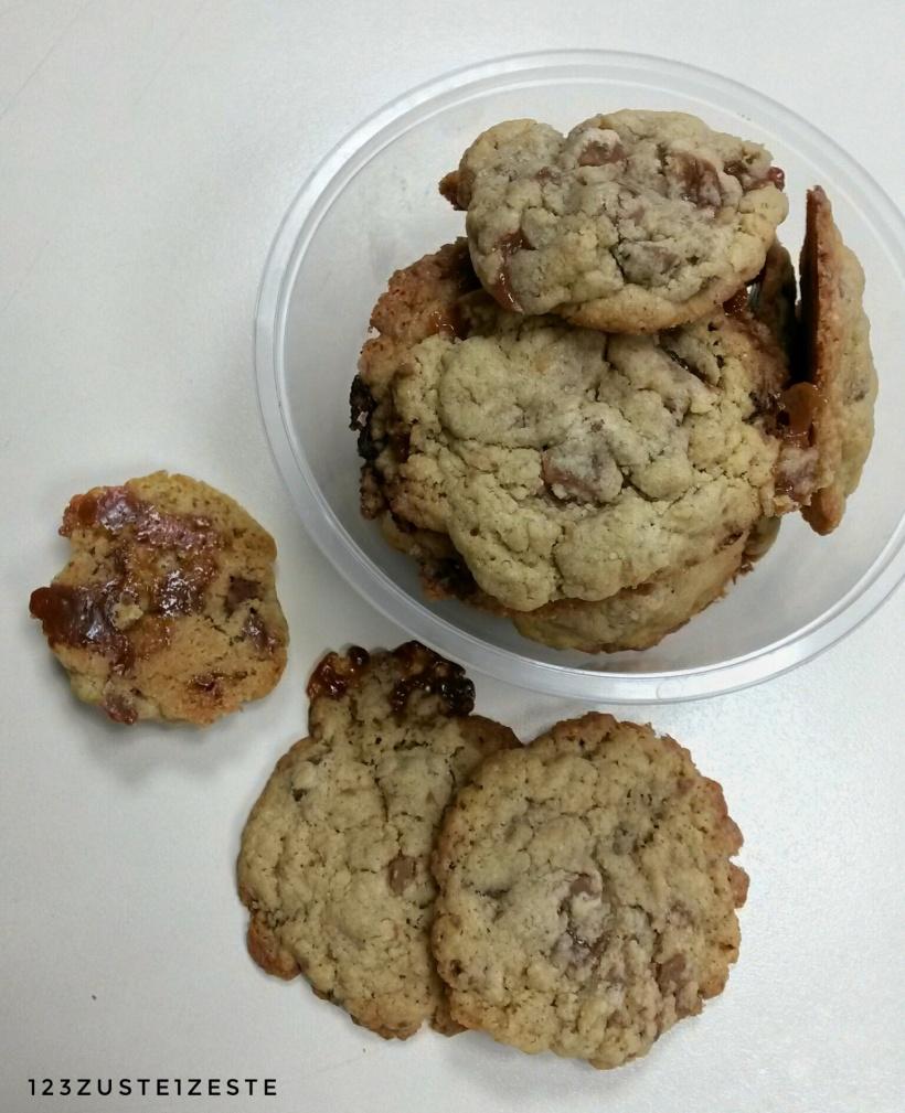 Cookies au praliné et pépites de caramel