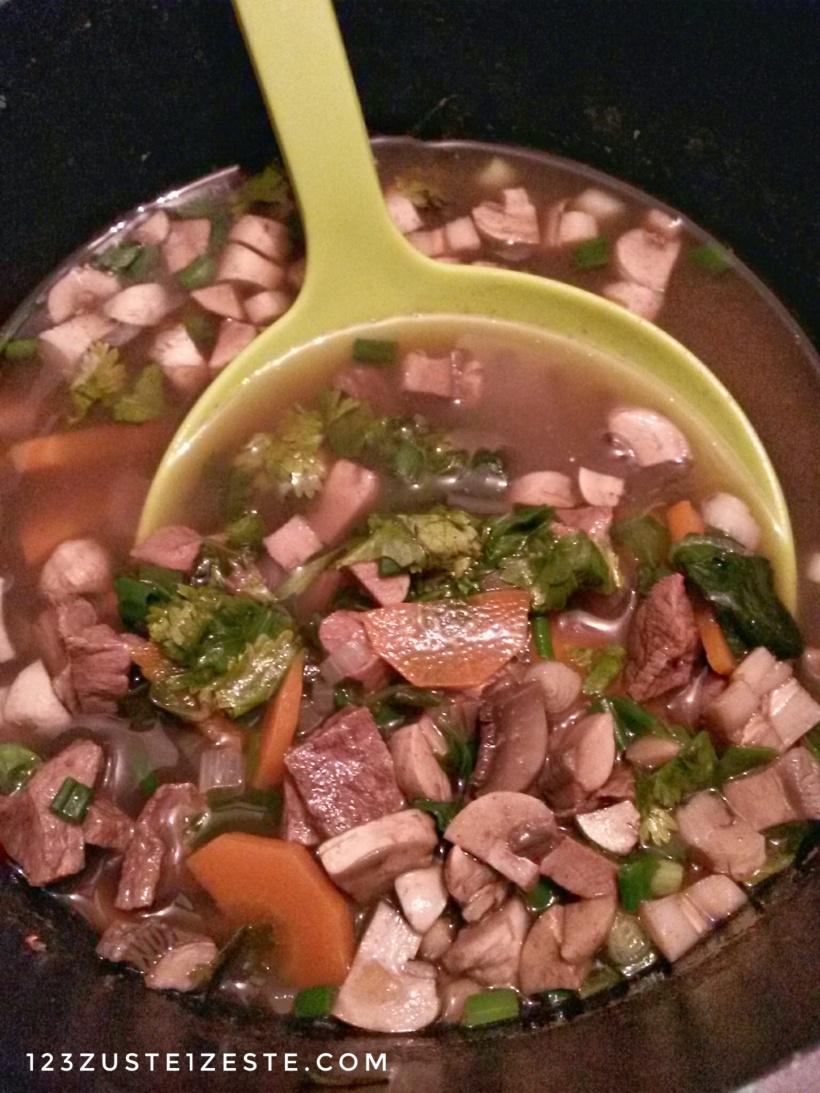 Cœur de bœuf en ragoût de légumes