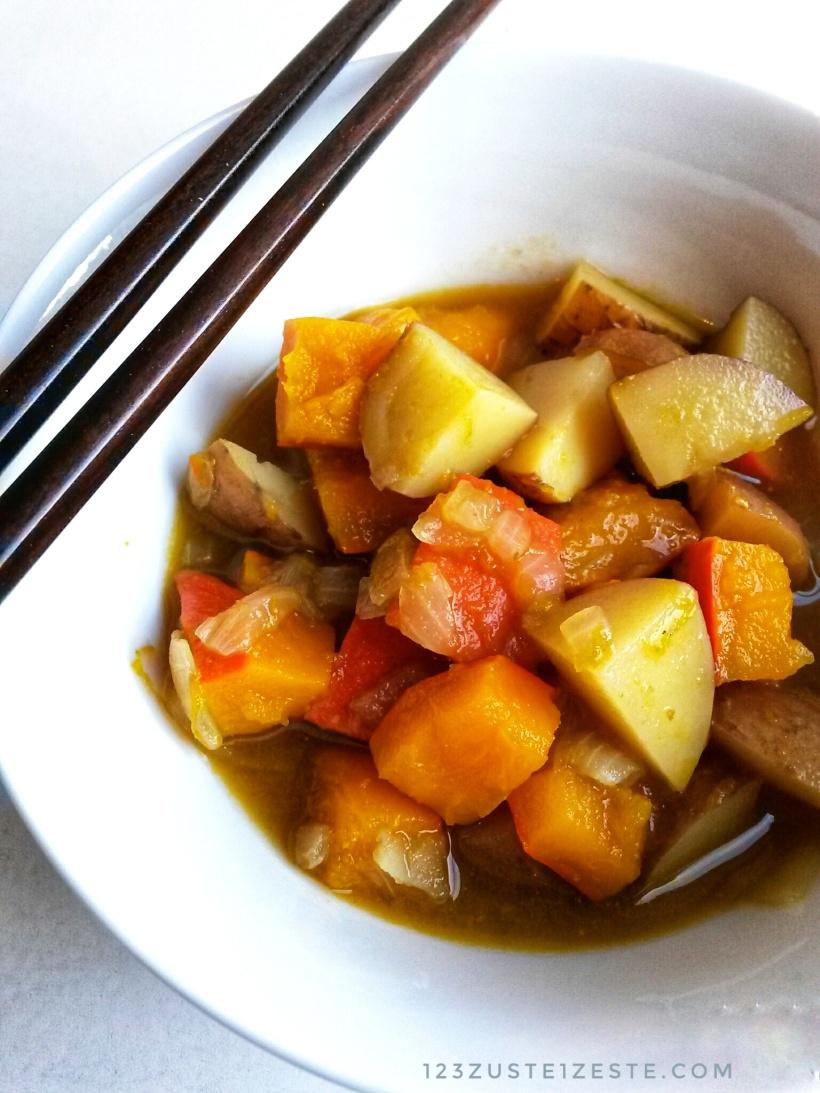 Curry japonais de potimarron