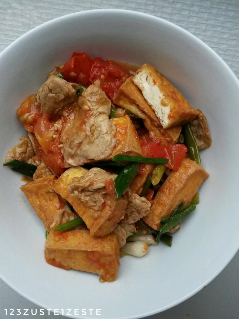 Duo de tofu à la sauce tomate (Vietnam)