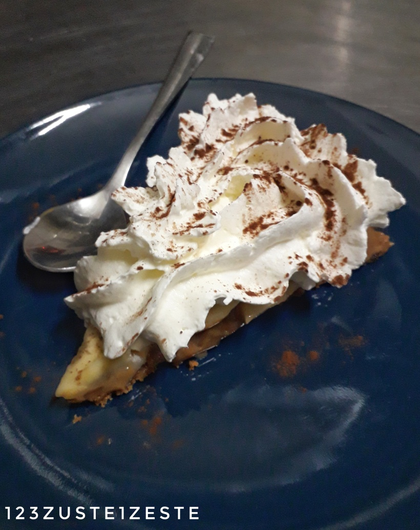 Banoffee Pie ou Tarte Banane, Caramel et Chantilly