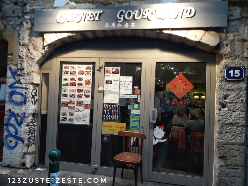 Mange ton Lyon- Restaurant chinois Carnet gourmand