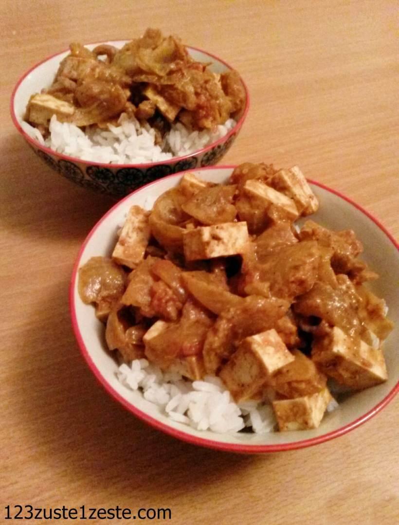 Tofu Tikka Masala (Vegan et sans gluten)