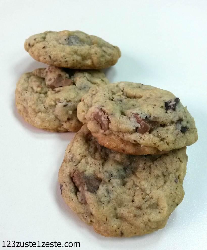 Cookies à la pralinoise et pépites de chocolat noir